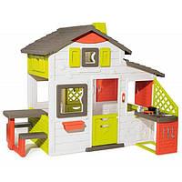Большой детский игровой домик Smoby Neo Friends House с кухней и звонком для детей