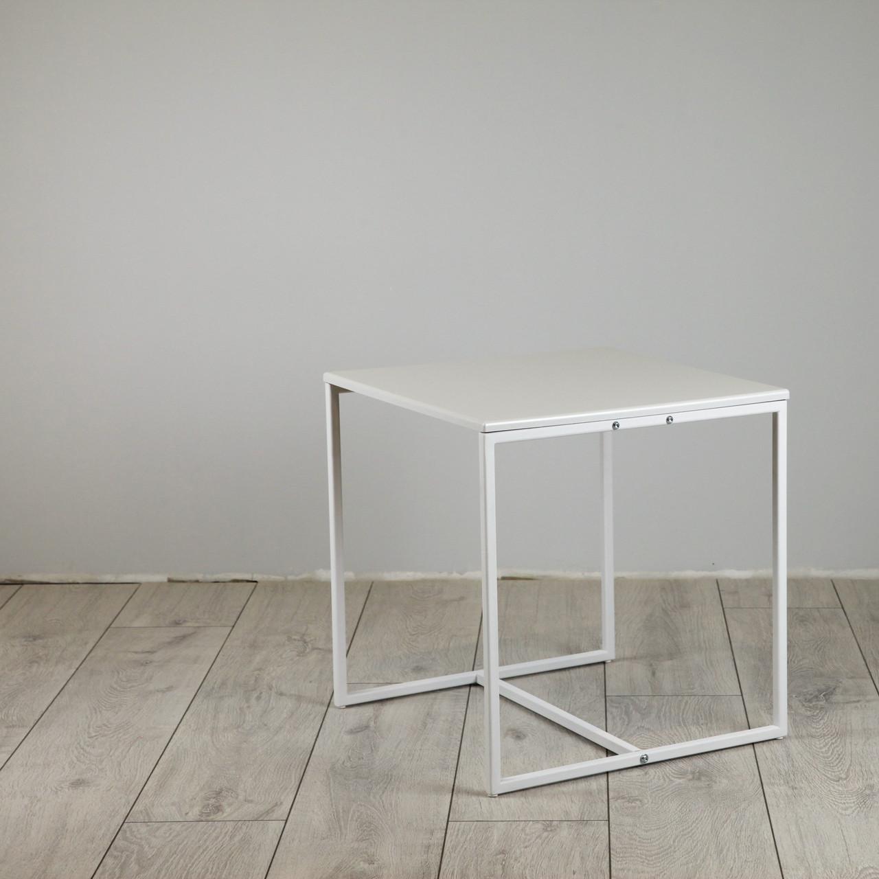 Стіл журнальний Куб 400/450 Перлинно - білий (Cub 400/450 white-white)