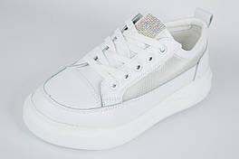 Кросівки з сіткою на платформі LORIS 2063 40 Білий шкіра