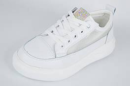 Кроссовки с сеткой на платформе LORIS 2063 40 Белый кожа