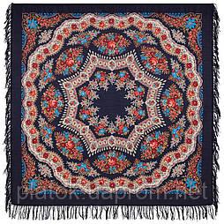 Браслет 351-14, павлопосадский платок шерстяной с шерстяной бахромой