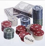 Шахи, покер 2 в 1 набір настільних ігор дерев'яні W2624,чорний, фото 3