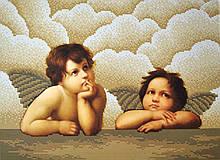 Вышивка бисером, Канва схемы картины Ангелочки