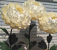 Білий піон на стійці Великі ростові квіти на 8 березня, фото 1
