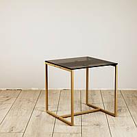 Стіл журнальний Куб 400/450 скло 10 мм Бронза - бежевий (Cub 400/450 bronze8-beige), фото 1
