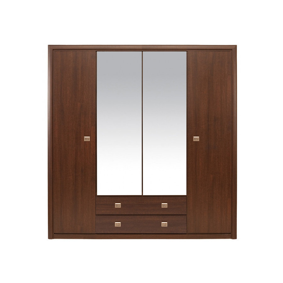 Шафа 4-дверна з дзеркалом в спальню з ДСП SZF4D2S Коен
