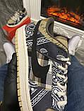 Чоловічі кросівки Nike SB Dunk Low Travis Scott Brown, кросівки найк сб данк тревіс скотт, фото 4