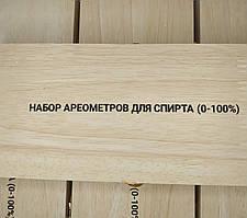 Набор ареометров (спиртометров) АСП-3 в дер. коробке