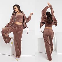 Жіночий велюровий спортивний костюм 773 (ЛК), фото 2