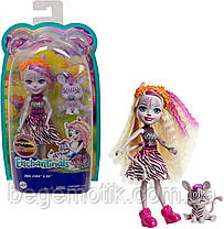 Кукла Энчантималс Зебра Зеди с питомцем Реф Enchantimals GTM27 Zadie Zebra Doll & Ref Animal Friend