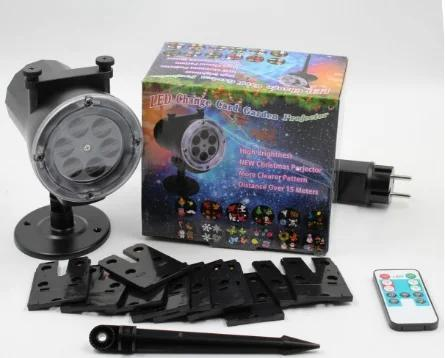 Диско laser ligth star shower with remote and 12 photo Уличная