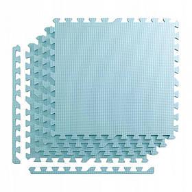 Мат-пазл ласточкин хвост 4FIZJO Mat Puzzle EVA 120 x 120 x 1 cм голубой