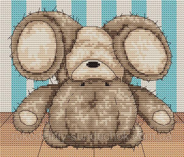 Набор для вышивки крестом Luca-S B1084 Медвежонок Бруно