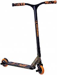 Трюковый самокат Maraton Champion (чёрно-оранжевый)