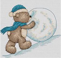 Набор для вышивки крестом Luca-S B1002 Медвежонок Бруно