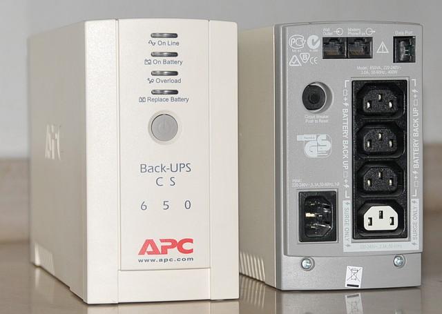 Источник бесперебойного питания APC Back-UPS CS 650VA, без аккумулятора
