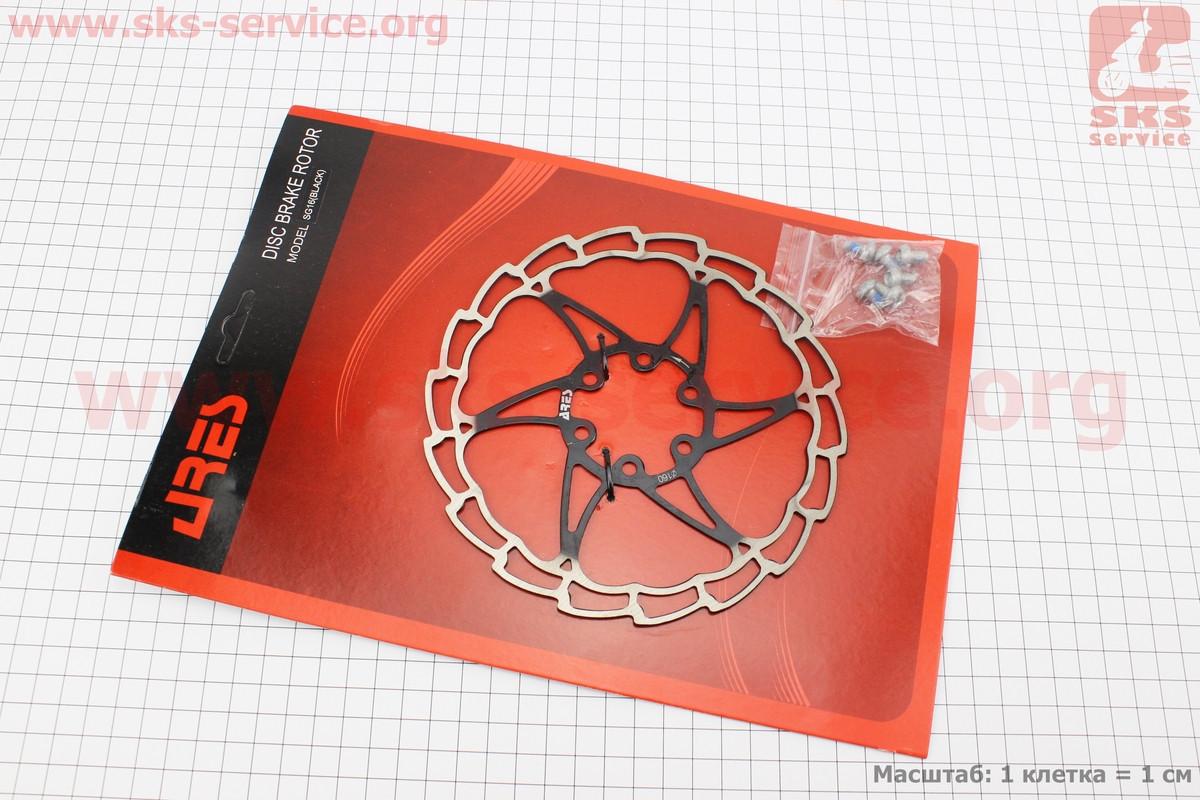 Тормозной диск 160мм, под 6 болтов, черный SG16
