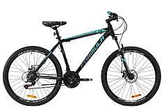 """Велосипед 26"""" Formula MOTION 2020 (черно-бирюзовый (м))"""