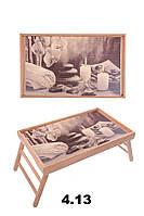 """Поднос-столик на ножках для ноутбука """"Свечи, камни"""""""