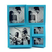 "Фоторамка ""The Brightest Moments"" голубая на 5 фото"