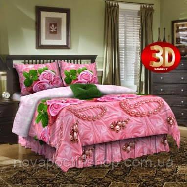 Комплект постельного белья Розовый жемчуг 3D
