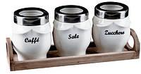 Набор столовый для соли, перца, кофе