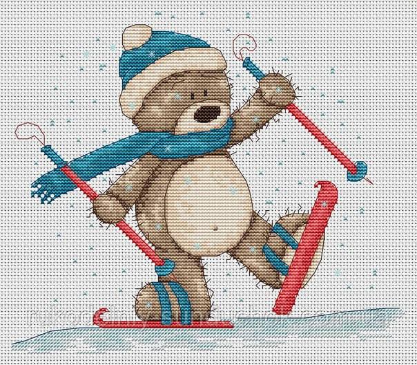 Набор для вышивки крестом Luca-S B1004 Медвежонок Бруно