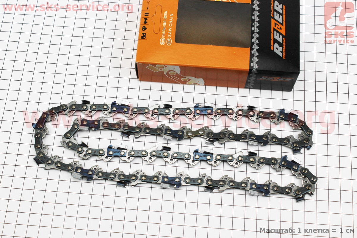 Цепь 3/8-1,3mm-52зв. квад. зуб (на Partner-14), отличное качество