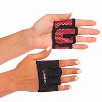 Накладки атлетичні (грипад) для підняття ваги WorkOut рожеві FI-8038, L, фото 1
