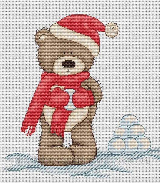 Набор для вышивки крестом Luca-S B1098 Медвежонок Бруно