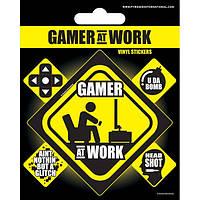 Вініл. наклейки Gamer at Work
