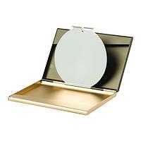 """Візитниця з дзеркалом Lexon """"FINE"""", золотистий"""