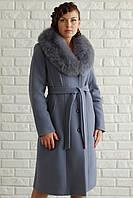 Классическое кашемировое зимнее пальто батальных размеров (48-58), разные цвета