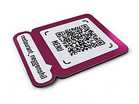 Табличка с QR кодом МЕНЮ для кафе и ресторанов 200х250мм (Основание: ПВХ пластик;  Крепление: Без крепежа;)