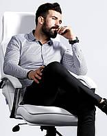 Белая рубашка длинный рукав с принтом S