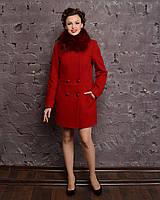 Элегантное кашемировое зимнее пальто (42-54), разные цвета