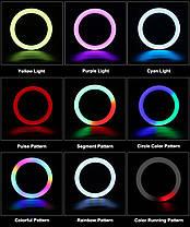 Кільцева LED лампа RGB MJ26 26см 1 крепл.тел USB, фото 2