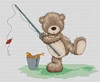 Набор для вышивки крестом Luca-S B1022 Медвежонок Бруно