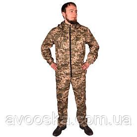 Камуфляжный костюм с капюшоном UkrCamo КПС 56р. Пиксель светлый