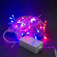 Светодиодная гирлянда String 5м 100LED контроллер мультицвет