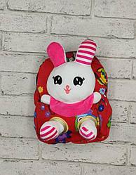 Детский рюкзак с игрушкой - Красный
