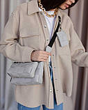 Женская сумка «Салли» комплект 3 в 1 серая, фото 2
