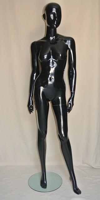 Манекен женский черного цвета.PU-19 (602-32)(93)(22)