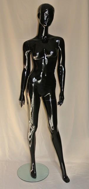 Манекен женский глянцевый черного цвета.PU-19-4 (602-28)(87)(18)