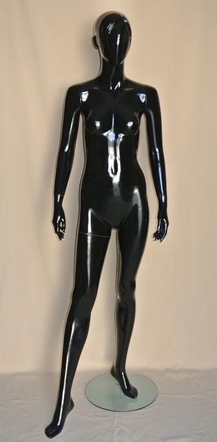 Манекен женский черный глянцевый.PU-38-2(602-97)(2)