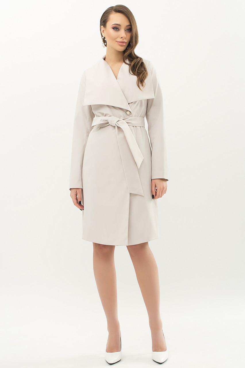 Модный женский плащ шалевым воротником   размеры  46