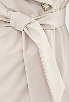 Модный женский плащ шалевым воротником   размеры  46, фото 3