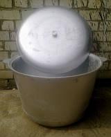 Казан 100 литров алюминиевый литой с ручкой для подвешивания, фото 1