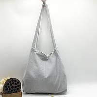 Річна текстильна сумка. Світло-сіра, фото 1