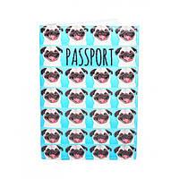 Обложка для паспорта Мопсы, фото 1
